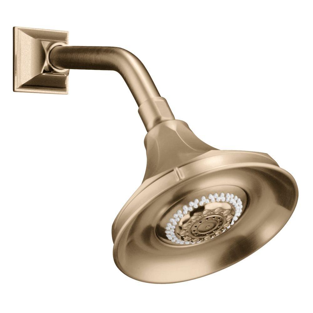 KOHLER Memoirs 3-Spray 5-15/16 in. Rainhead Multifunction Showerhead in Vibrant Brushed Bronze