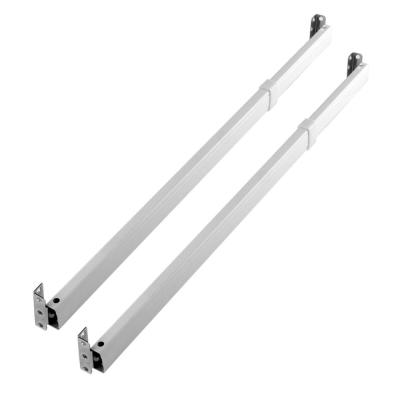 20 in to 36 in Ajustable Flat Sash Rods in White - (set of 2)