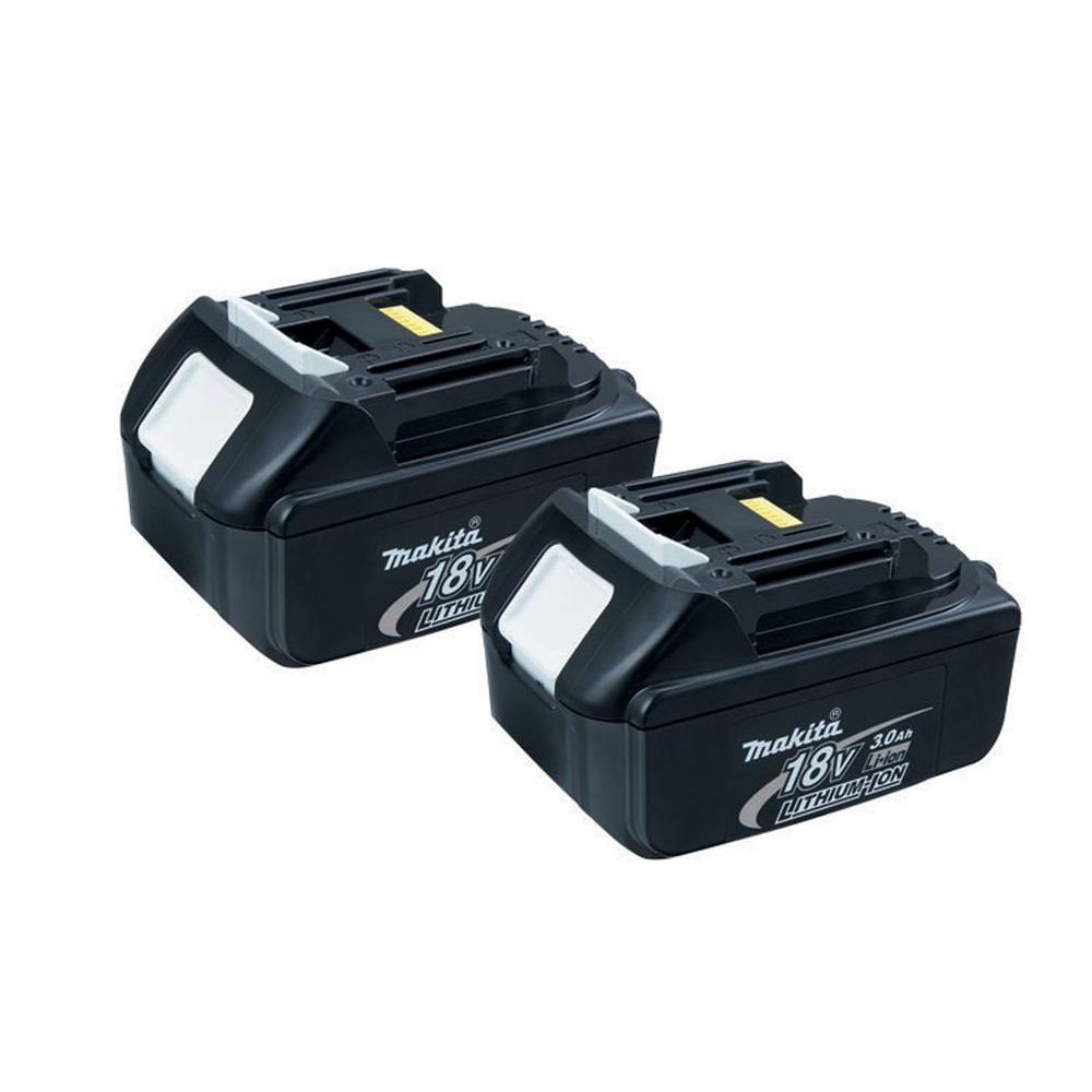 makita 18 volt lxt 3 0ah lithium ion battery 2 pack bl1830 2 the home depot. Black Bedroom Furniture Sets. Home Design Ideas