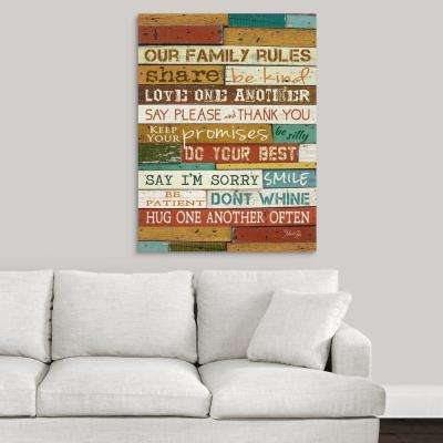"""""""Family Rules"""" by Marla Rae Canvas Wall Art"""