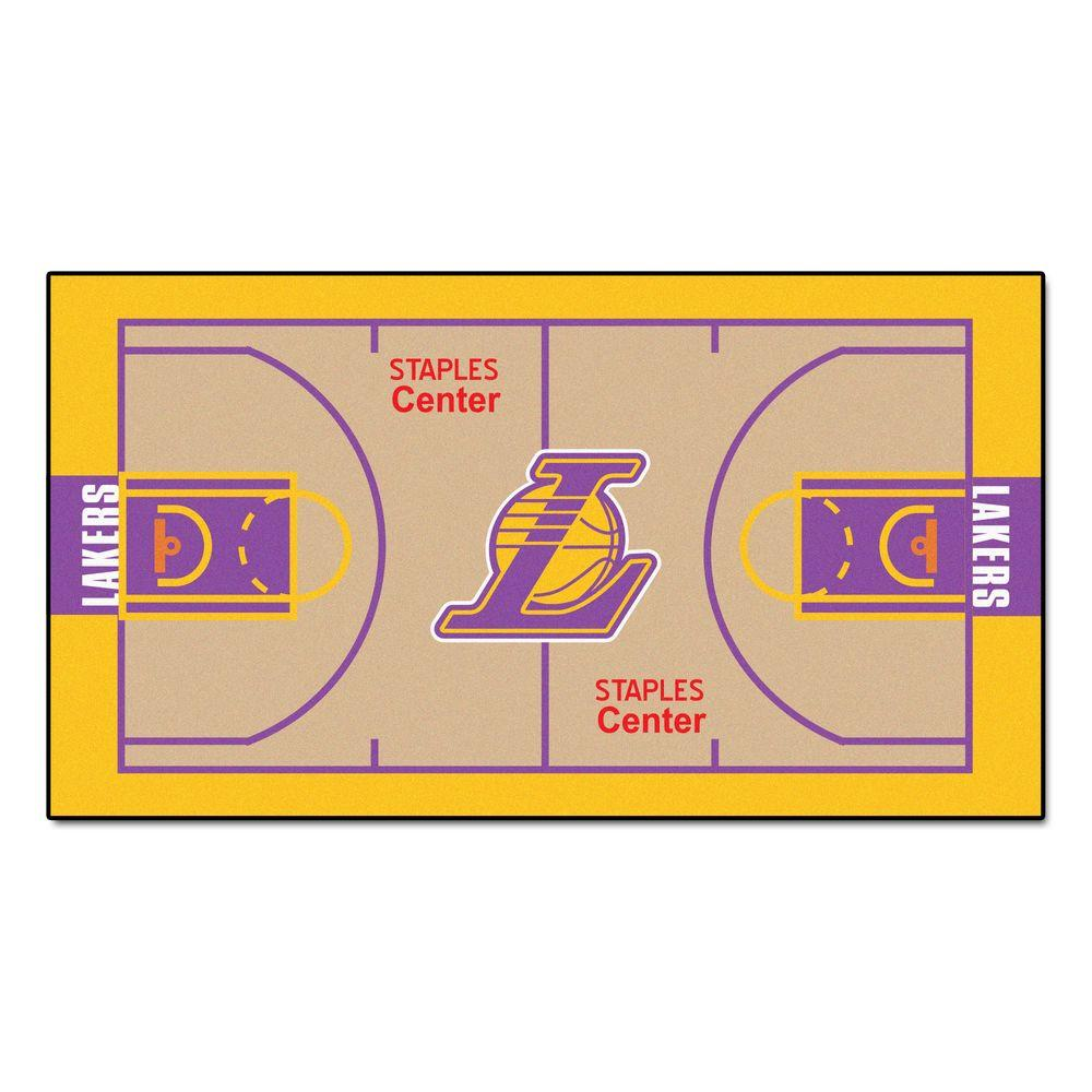 Fanmats Los Angeles Lakers 2 Ft X 3 Ft 8 In Nba Court