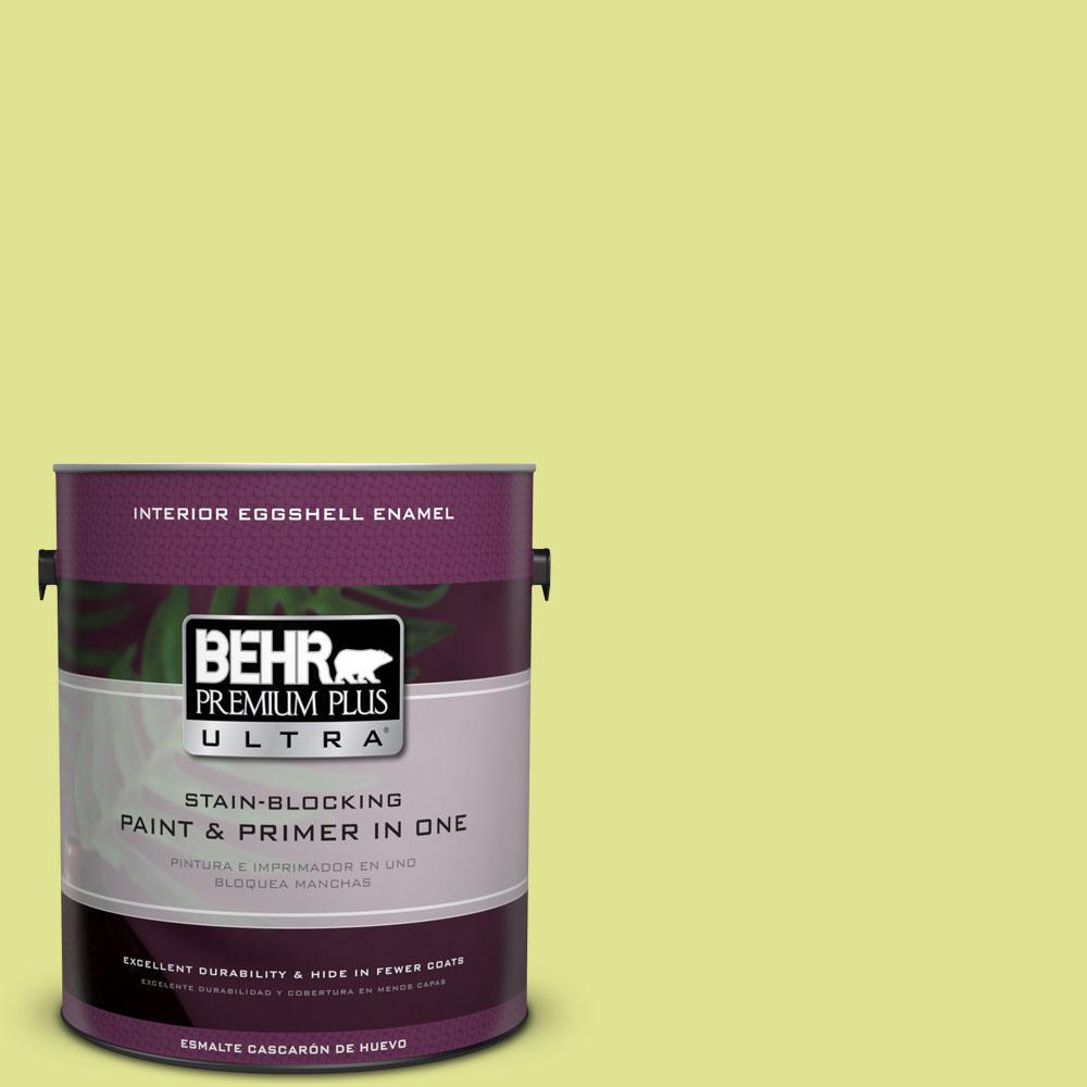 BEHR Premium Plus Ultra 1-gal. #410A-3 Honeydew Eggshell Enamel Interior Paint