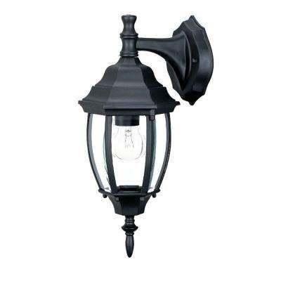 Wexford Collection 1-Light Matte Black Outdoor Wall-Mount Light Fixture
