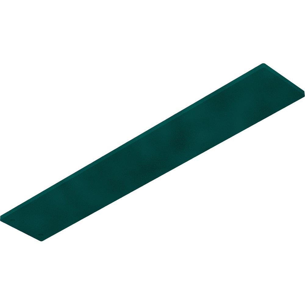 0.25 in. x 3 in. x 18 in. Steel Hammered Deep Green Logan Bracket