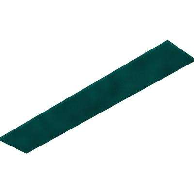 0.25 in. x 3 in. x 18 in. Steel Hammered Deep Green Logan Bracket