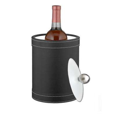2 Qt. Stitched Black Tall Ice Bucket