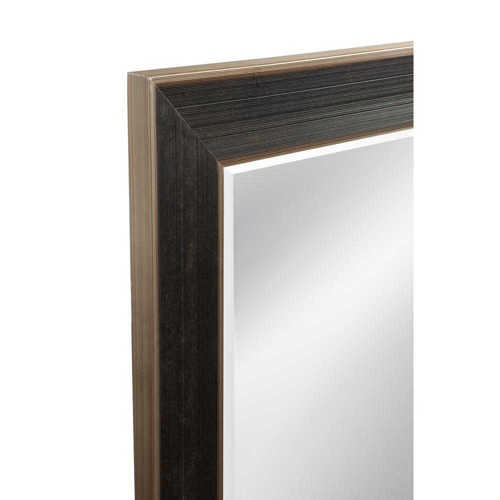 BASSETT MIRROR COMPANY Kara Leaner Mirror The Kara Leaner is a stately addition to any space in your home. It's classic shape is accompanied by an ebony and gold finish, ideal for any room in need of a bold presence. Adds sophistication to any room.