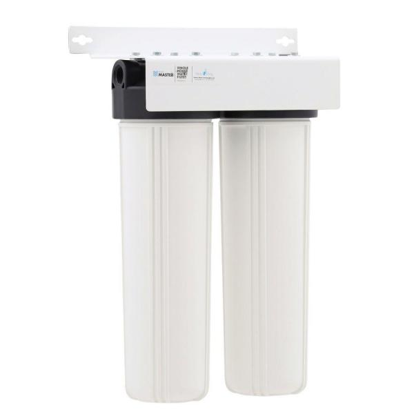 Whole House 2-Stage Water Filtration System with Multi Gradient Sediment and KDF85/Catalytic Carbon