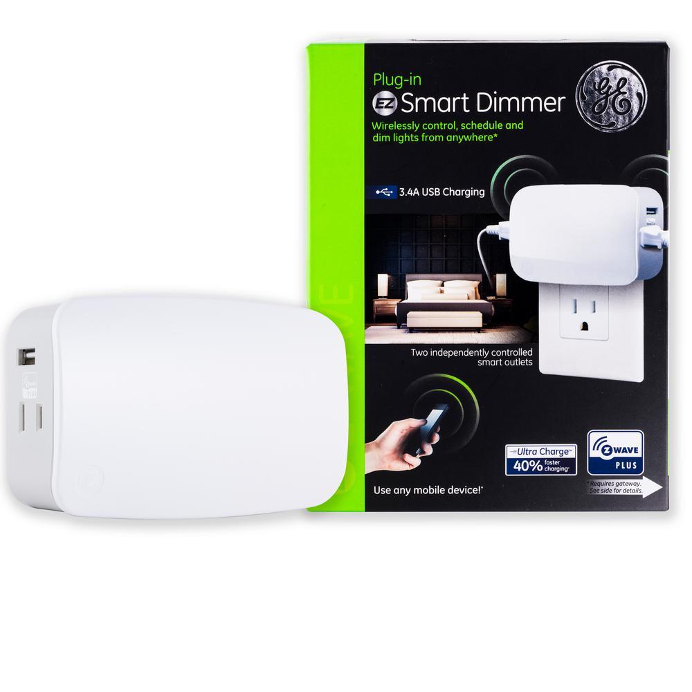 Z-Wave Plus Plug-In 2-Outlet Smart Light Dimmer
