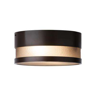 Moon Dance 1-Light Bronze Outdoor LED Flush Mount