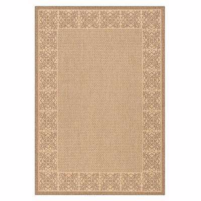 Summer Chimes Natural/Cocoa 8 ft. x 11 ft. Area Rug
