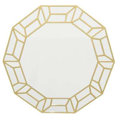 31.5 in. Wood Mirror in Gold in Gold