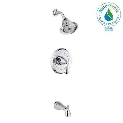 Fluent Flowise 1-Handle Tub and Shower Faucet Trim Kit in Polished Chrome (Valve Sold Separately)