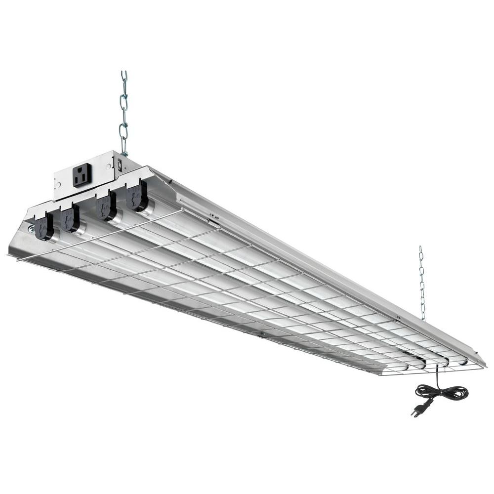 Lithonia Lighting 4 Light Grey Fluorescent Heavy Duty Shop Light