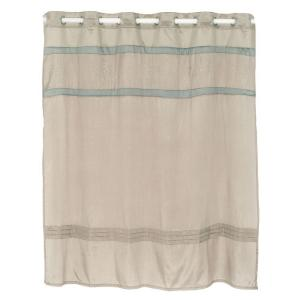 Lavish Home Radcliff 72 inch Embroidered Shower Curtain in Grey by Lavish Home