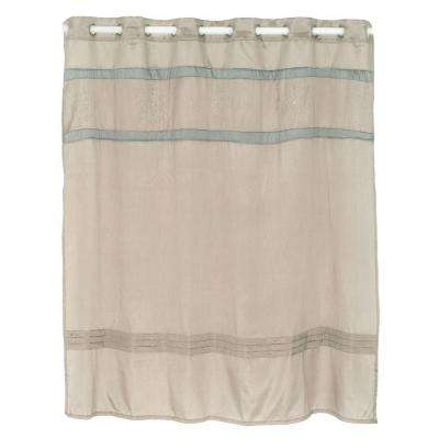 Radcliff 72 in. Embroidered Shower Curtain in Grey