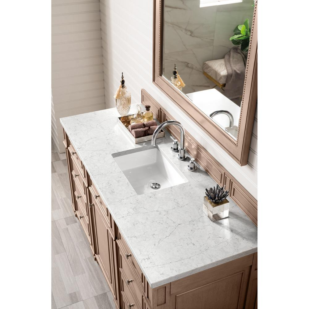 James Martin Vanities Bristol 60 In Single Vanity In Whitewashed Walnut With Quartz Vanity Top In Eternal Jasmine Pearl With White Basin 157 V60s Ww 3ejp The Home Depot