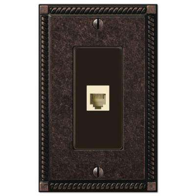 Georgian 1 Phone Wall Plate - Oil-Rubbed Bronze