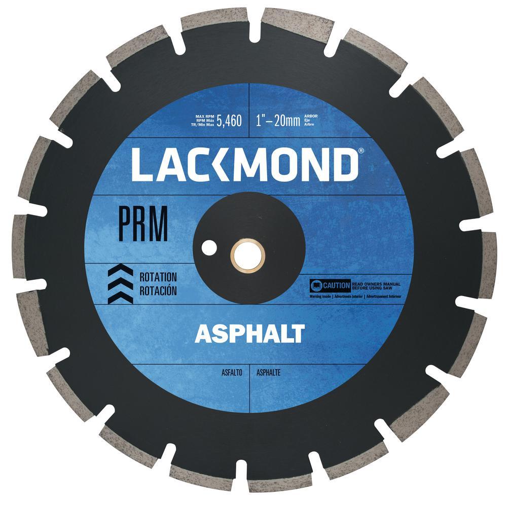 PRM Series Asphalt/Block Blade 20 in. x 0.155 in. - 1 in. Arbor