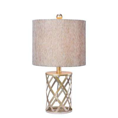 19.5 in. Antique Gold Metal Table Lamp