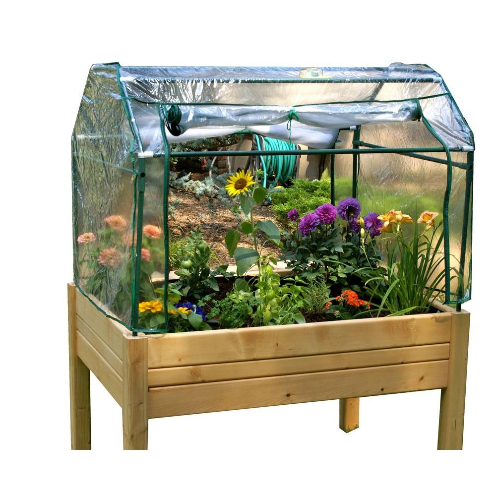 Portable Indoor Greenhouse : Eden portable herb garden ft made from solid