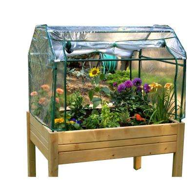 Portable Herb Garden 2 ft. x 3 ft. Made from Solid Wood Greenhouse
