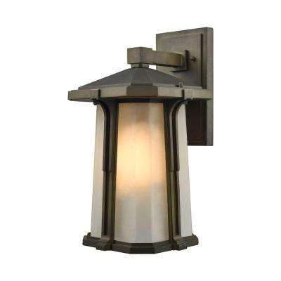 Brighton 1-Light Smoked Bronze Outdoor Wall Sconce