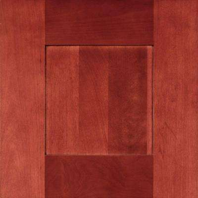 13x13 in. Cabinet Door Sample in Kingsbridge Cabernet
