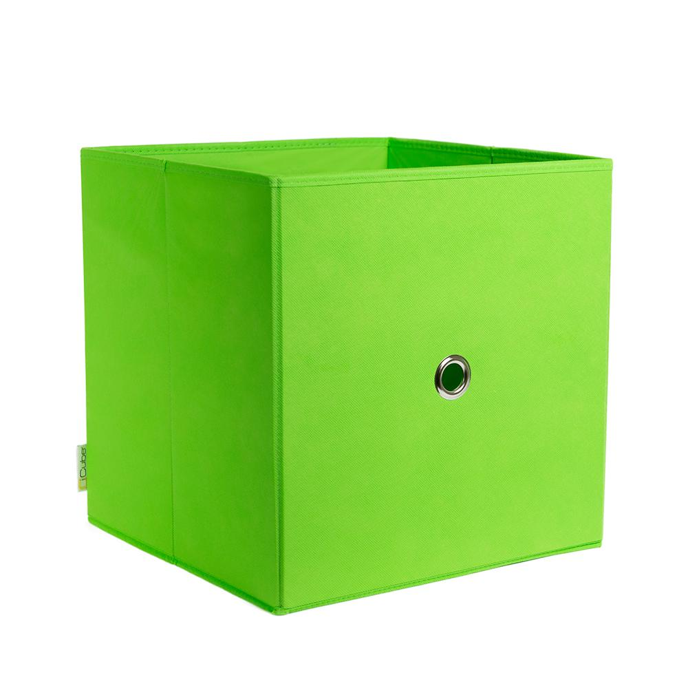 Charmant ICube Full Fabric Drawer 12.5 In. X 12.5 In. Lime Fabric Storage Bin