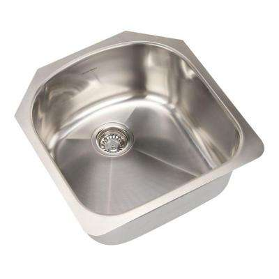 Prevoir Undermount Brushed Stainless Steel 19.875 in. 0-Hole Bowl Single Bowl Kitchen Sink Kit