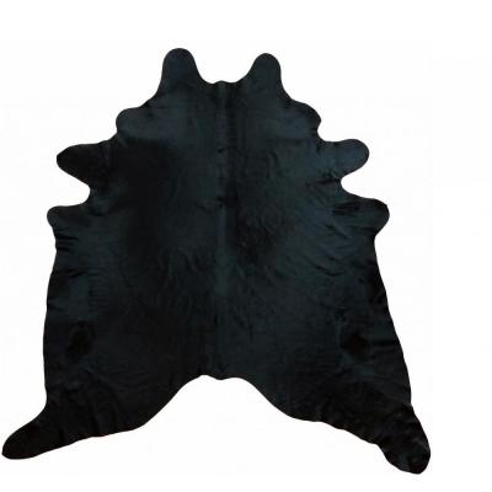 Dahlia Black 6 ft. x 7 ft. Solid Color Cowhide Area Rug