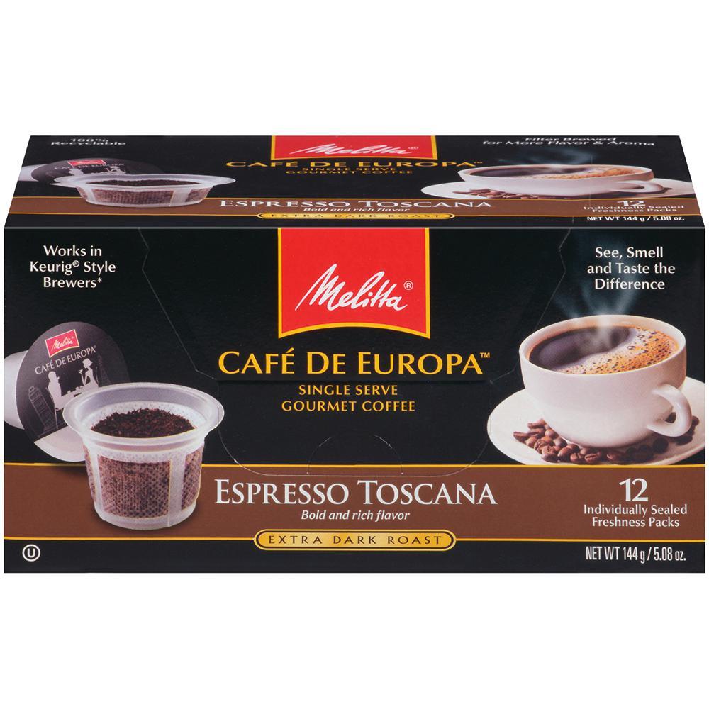 Cafe de Europa Espresso Toscano Single Serve Coffee Capsule (72-Count)