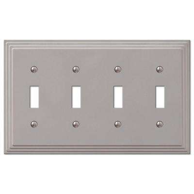 Steps 4 Toggle Wall Plate - Nickel