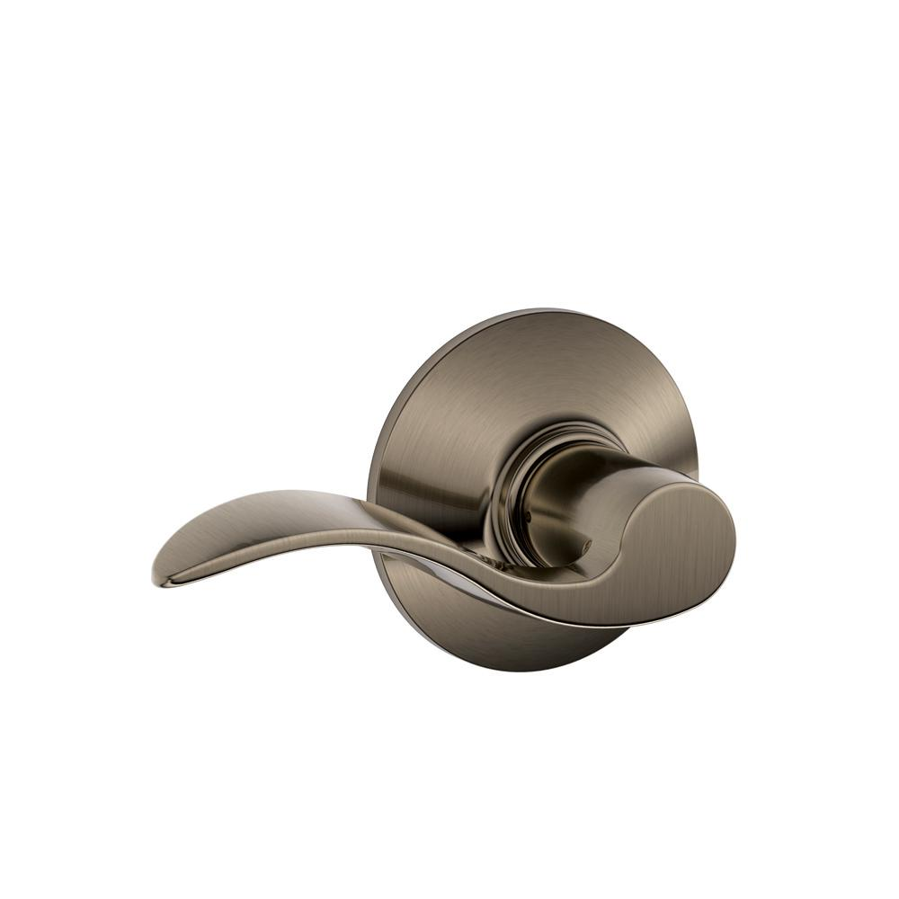 Accent Antique Pewter Passage Hall/Closet Door Lever - Pewter - Door Levers - Door Hardware - The Home Depot