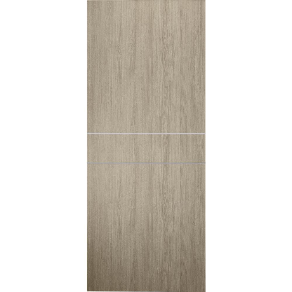 detailed look 79679 f79cb Belldinni 36 in. x 80 in. Viola 2HN Shambor Finished with Aluminum Strips  Solid Core Composite Interior Door Slab No Bore