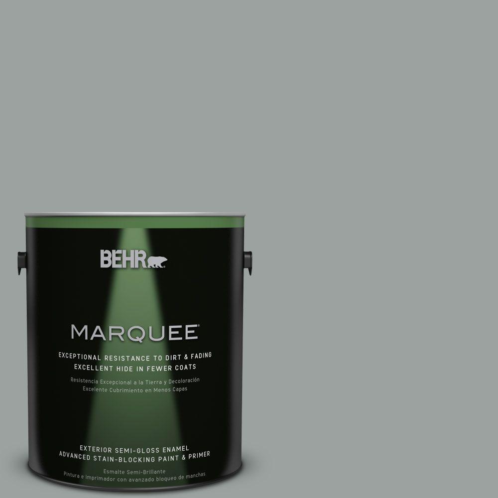 BEHR MARQUEE 1-gal. #PPU11-16 Brampton Gray Semi-Gloss Enamel Exterior Paint
