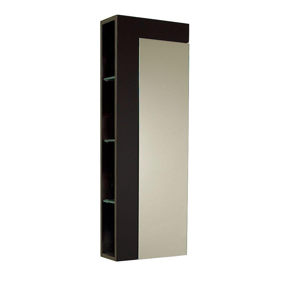 Fresca 13-3/4 in. W x 39-3/10 in. H Bathroom Linen Storage Tower ...