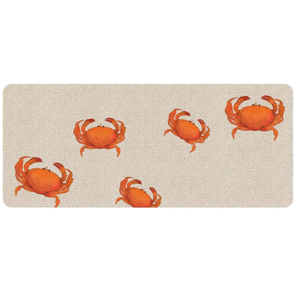 Bungalow Flooring Crab Hooked Multi 22 In. X 52 In. Premium Comfort Runner