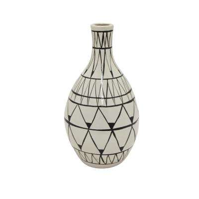 15.5 in. White Ceramic Decorative Vase