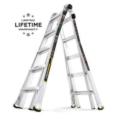 22 ft. Reach MPX Aluminum Multi-Position Ladder with 375 lb. Load Capacity Type IAA Duty Rating
