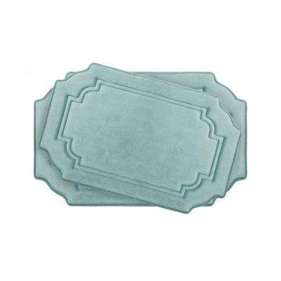 Calypso Aqua Memory Foam 2-Piece Bath Mat Set