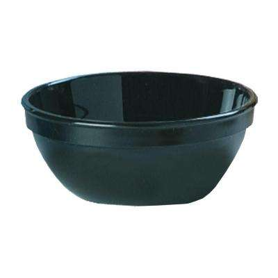 5.25 in. Diameter, 15 oz. Polycarbonate Commercial Nappie Bowl in Black(Case of 48)