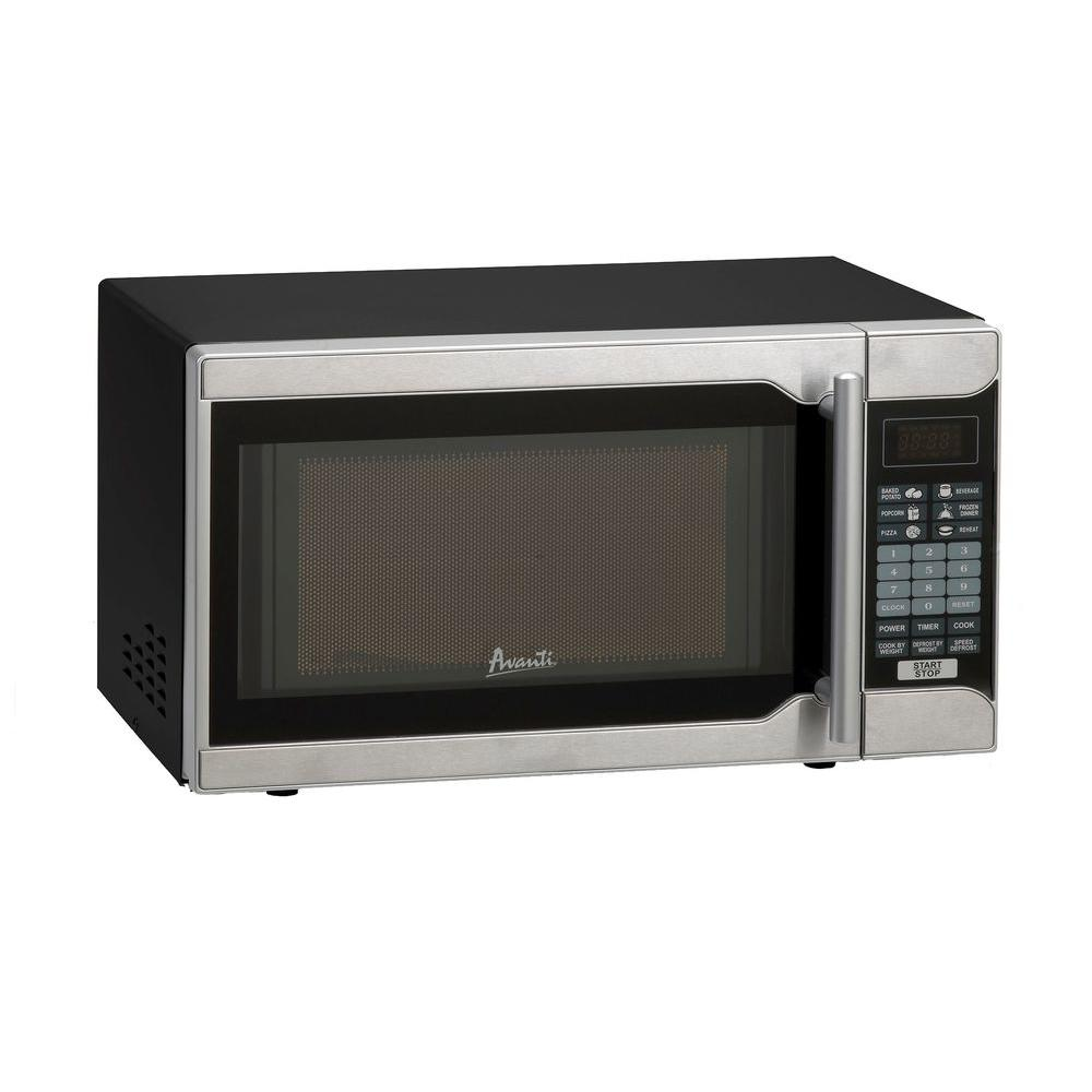 picture Avanti 18 0.7 cu.ft. Countertop Microwave MO7191TW Color: Black
