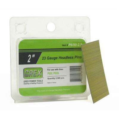 2 in. 23-Gauge Galvanized Headless Pins (2.5M-Pack)