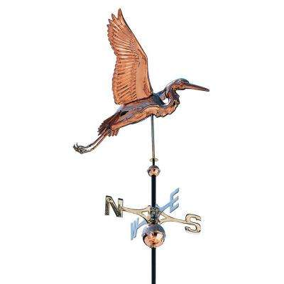 48 in. Polished Heron Copper Weathervane