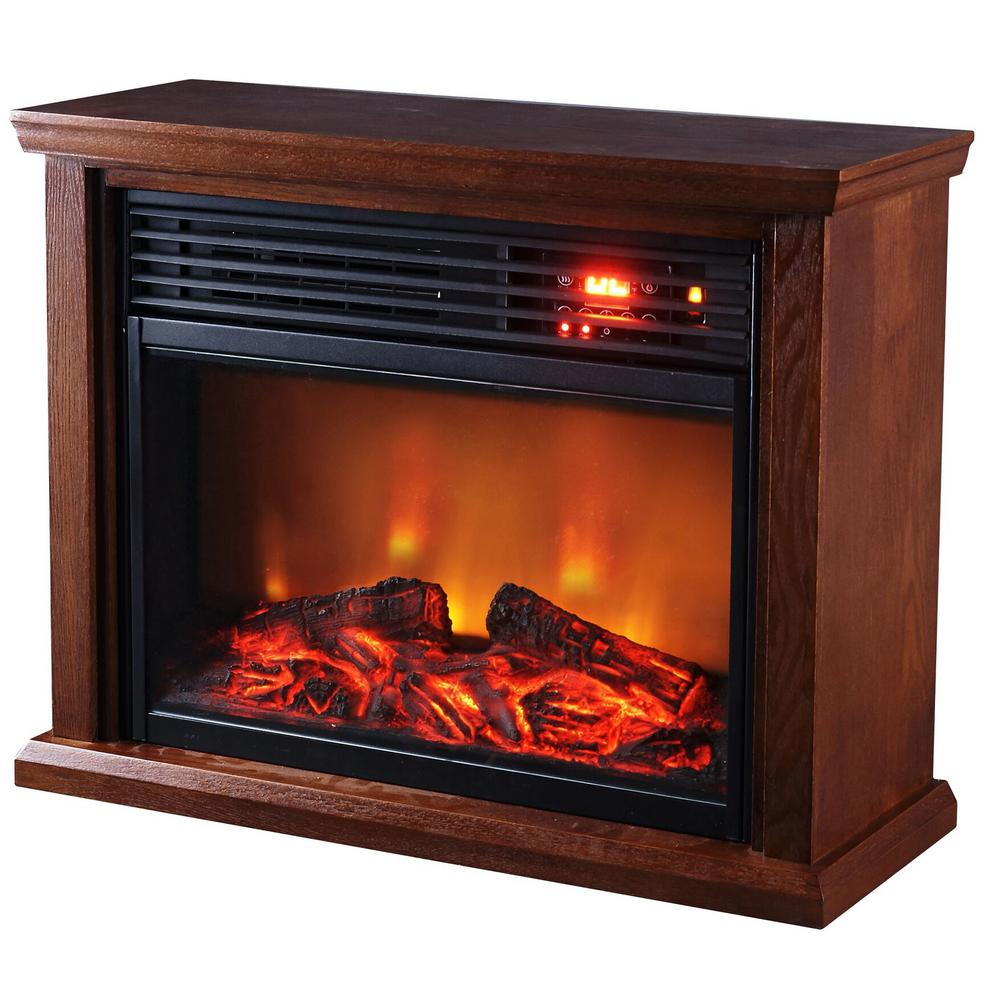 Optimus Electric Infrared Fireplace Heater With Remote