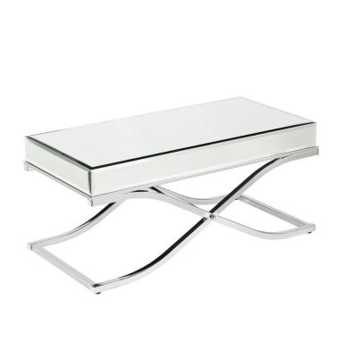 Alice 43 in. Clear Large Rectangle Glass Coffee Table