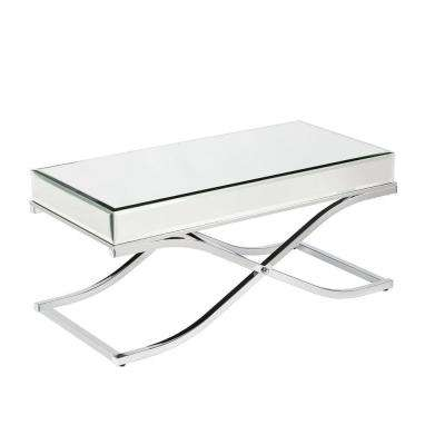 Alice Mirrored Chrome Coffee Table
