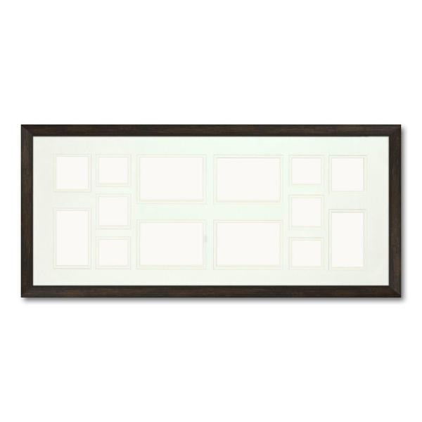 Ptm Images 14 Opening Holds Multiple Photos Matted Brown Photo Collage Frame Set Of