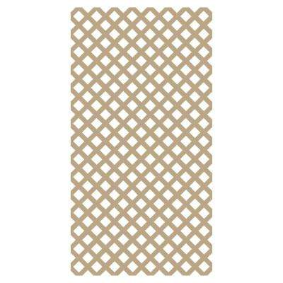 0.2 in. x 48 in. x 8 ft. Wicker Vinyl Classic Diamond Lattice